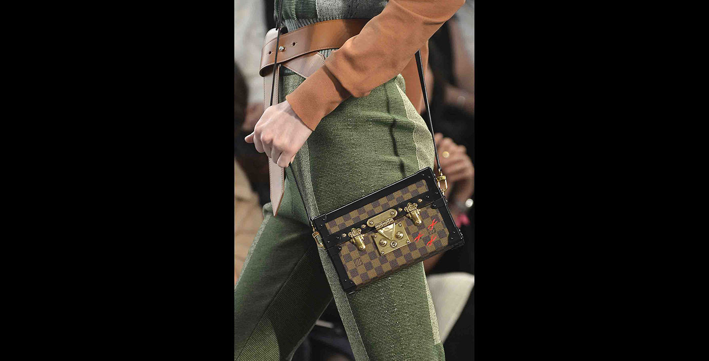59ef2a89a633 Nicolas Ghesquière s debut collection for Louis Vuitton was inspired.  TheFashionableTruth. With petite-malle bags ...